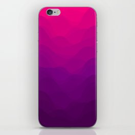 Purple and Pink Waves iPhone Skin