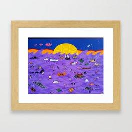 Mar de Trago IV Framed Art Print