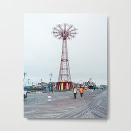 Coney Island: Parachute Jump Metal Print