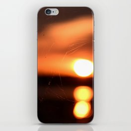 Sunset Through A Spiderweb iPhone Skin