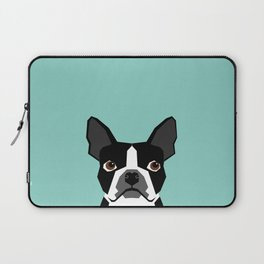 Logan - Boston Terrier pet design with bold and modern colors for pet lovers Laptop Sleeve
