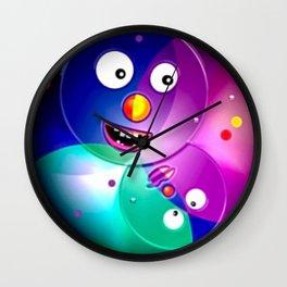 Good mood, colored balls. Wall Clock