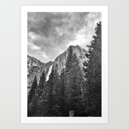 Yosemite Falls Before a Storm Art Print