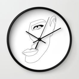 Face Shadow Wall Clock