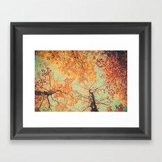 Autumn Inkblot - Yellow Framed Art Print