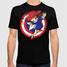 Peggy Carter Mens Fitted Tee Black LARGE