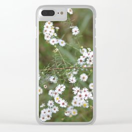 White Fairy Wildflowers Clear iPhone Case