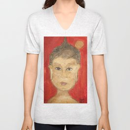 The Buddha Unisex V-Neck