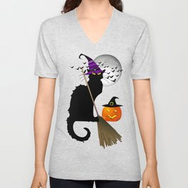 Le Chat Noir - Halloween Witch Unisex V-Neck