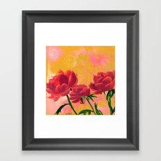 Peonies Framed Art Print