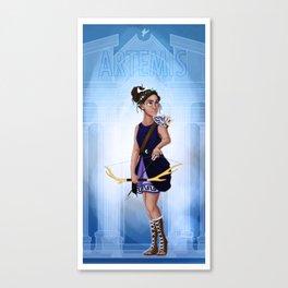 Greek Goddesses - Artemis Canvas Print