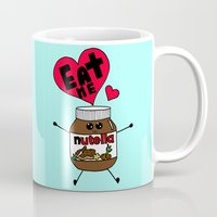 nutella Mugs featuring Nutella by Aurelie