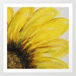 Big Yellow Daisy Art Print