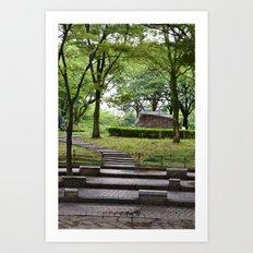 A Walk Through The Park Art Print