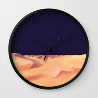 desert Wall Clocks featuring Desert by Anas Kadhim