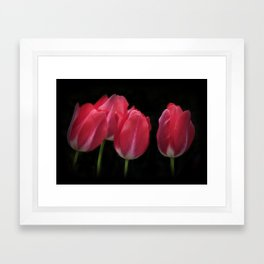 red and beautiful Framed Art Print