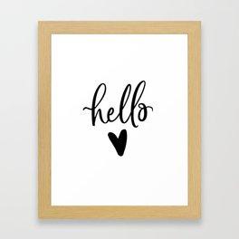 HELLO LOVE by DearLilyMae Framed Art Print