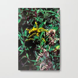 Yellow Flower of the Wood Metal Print