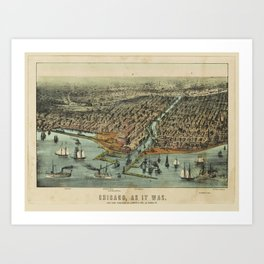 Chicago, As It Was. Before the Great Chicago Fire in 1871 Art Print