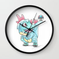 projectrocket Wall Clocks featuring Caught in a DILEma by Randy C