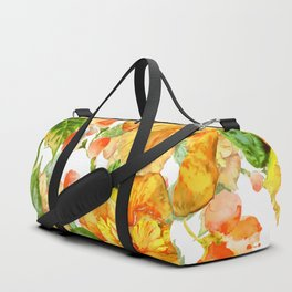 Yellow Hibiscus Tropical Continuous Floral Pattern Duffle Bag