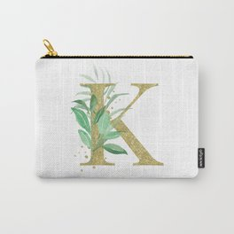 Letter K Monogram Carry-All Pouch