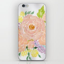 Loose Spring Floral watercolor bouquet iPhone Skin