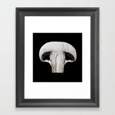 White Mushroom Framed Art Print