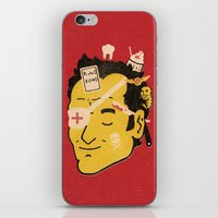 tarantino iPhone & iPod Skins featuring Quentin by Derek Eads