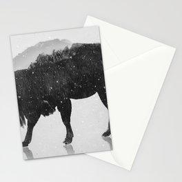 European Buffalo (B&W) Stationery Cards