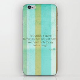 Carpe Diem Serie - Mother Teresa #inspirational iPhone Skin