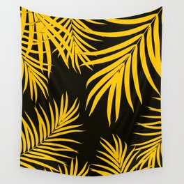 Palm Leaves Pattern Yellow Vibes #1 #tropical #decor #art #society6 Wall Tapestry