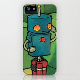 Robot - Self Destrukt iPhone Case