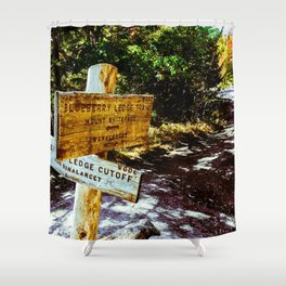 Blueberry Sign Shower Curtain