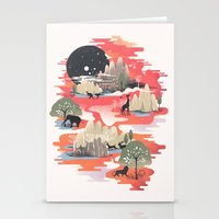 dreams Stationery Cards featuring Landscape of Dreams by dan elijah g. fajardo