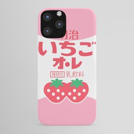 kawaii japanese strawberry milk iPhone Case