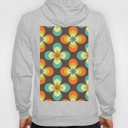 Retro flowers pattern 1970s Seventies floral art  Hoody
