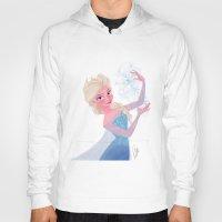 frozen elsa Hoodies featuring Elsa Frozen by pecamoDESIGN