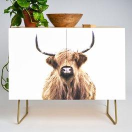 Highland Cow Portrait Credenza