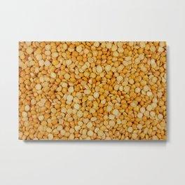 Yellow split peas Metal Print