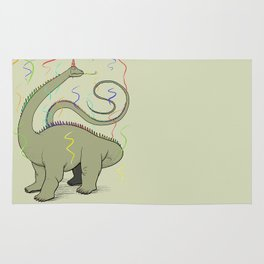 Diplodocus Rainbow Party Dino Rug