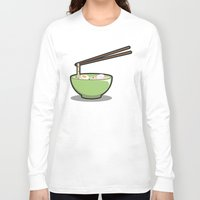 ramen Long Sleeve T-shirts featuring Food Lantern - Ramen by binario