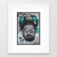 breaking bad Framed Art Prints featuring Breaking Bad by Sophie Bland