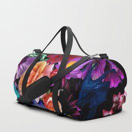 Colorful Fractal Flowers Duffle Bag