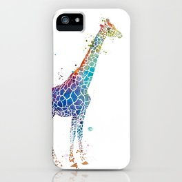 Blue Giraffe iPhone Case