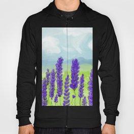 Lavenders. Landscape. Flowers. Hoody