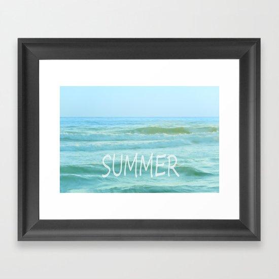 SUMMER. Vintage Framed Art Print