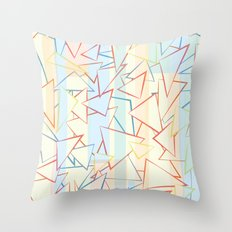 Attack of the Triangles. Throw Pillow