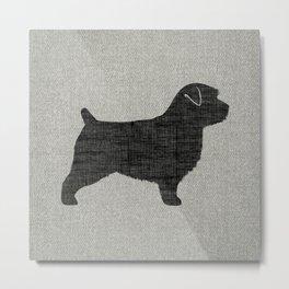 Norfolk Terrier Dog Breed Silhouette Metal Print
