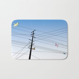 Birds on a wire Bath Mat